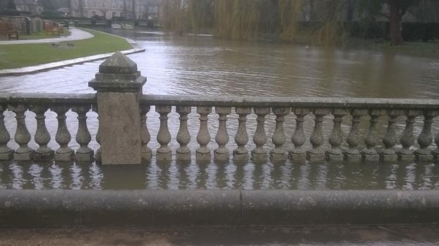 Flooded Causeway with Coombe Abbey in background