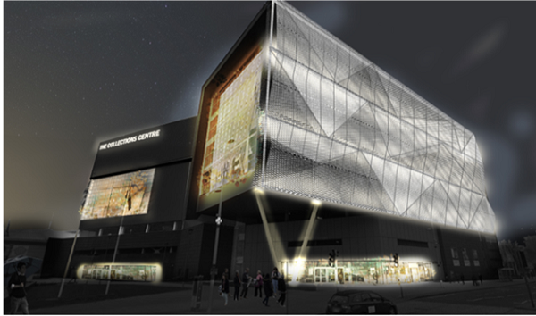 A computer generated image of the new building