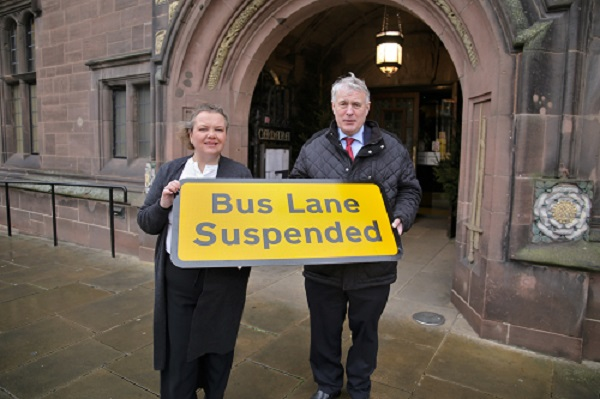 Bus lane suspension