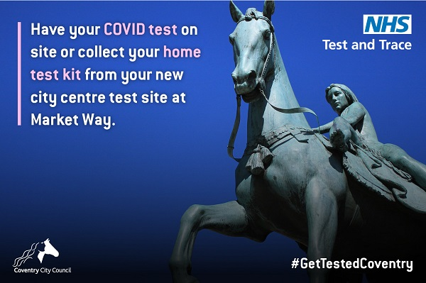 A graphic that encourages you to get a test from Market Way