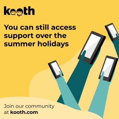 Kooth - you can still access support over the summer holidays