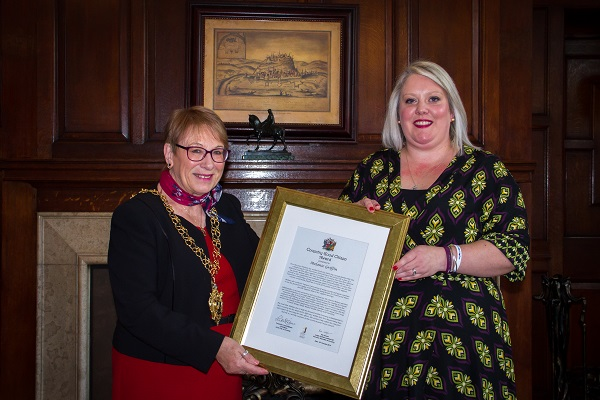 Lord Mayor with Melanie Griffin
