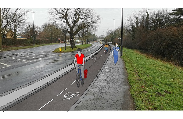 A computer generated image of Clifford Bridge Cycleway