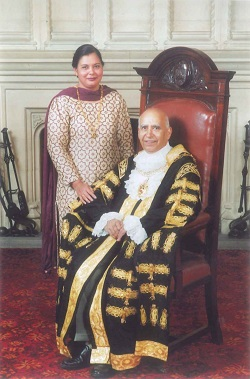 Cllr Sucha Singh Bains with his wife Darshan Kaur Bains at the start of his year as Coventry Lord Mayor in May 2003
