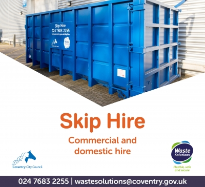 Commercial waste skip hire