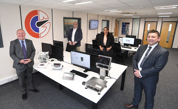 From the left, Cllr Jim O'Boyle (Coventry City Council), Tom Marren (Coventry Scale Company), Kierandeep Bal (Coventry City Council) and Gary Thyeson (CWLEP Growth Hub)