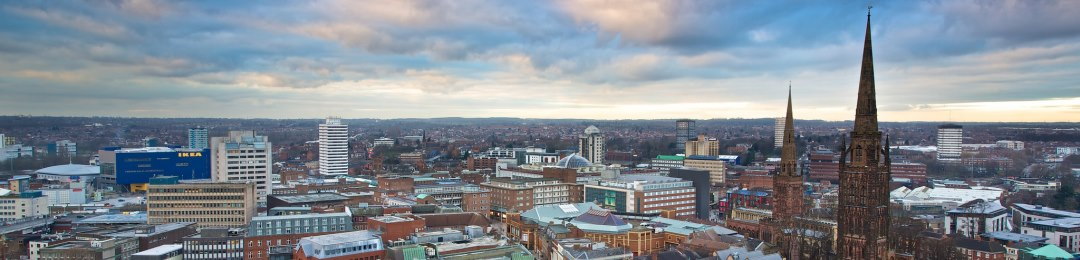 Coventry skyline in the daytime
