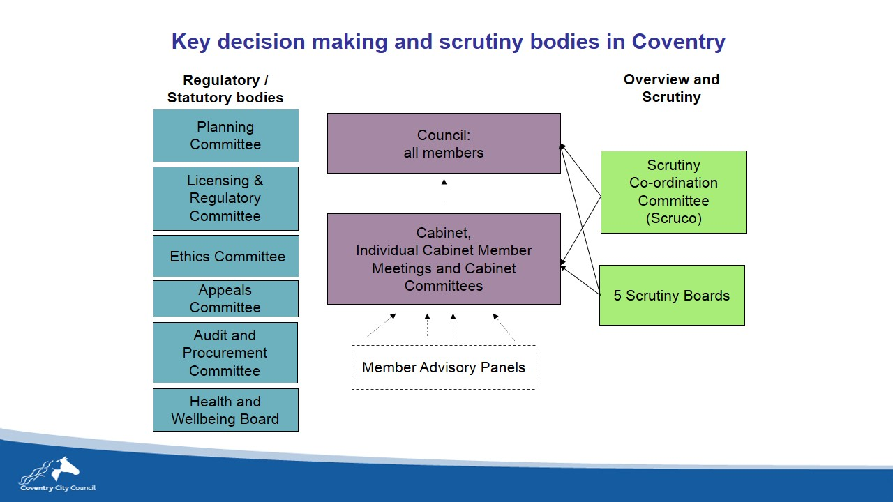 Decision making advisory and scrutiny bodies