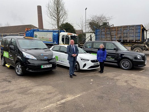 Pictured: Cllr Jim O'Boyle and Cllr Patricia Hetherton with the fleet