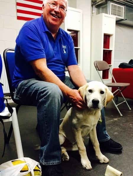 Frank and guide dog Rick