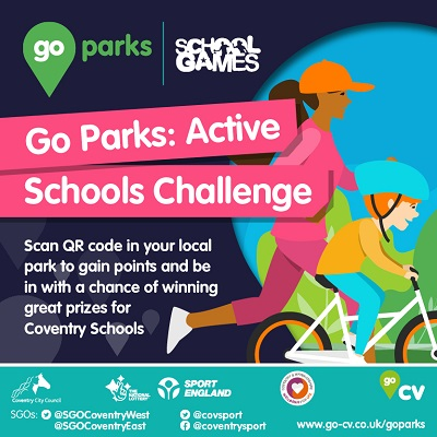 Scan the QR code in your local park to take part in the Go Parks challenge