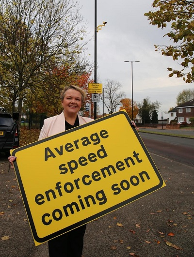 Jayne innes and speed cameras sign
