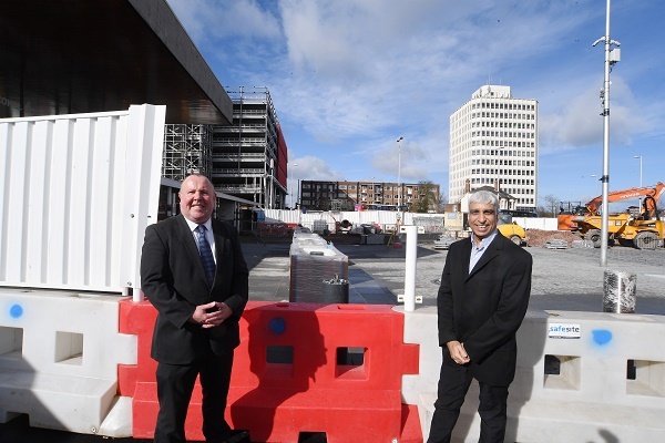 Cllr Jim O'Boyle (left) from Coventry City Council with Zamurad Hussain from the CWLEP