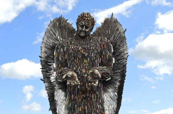 Knife angel statue