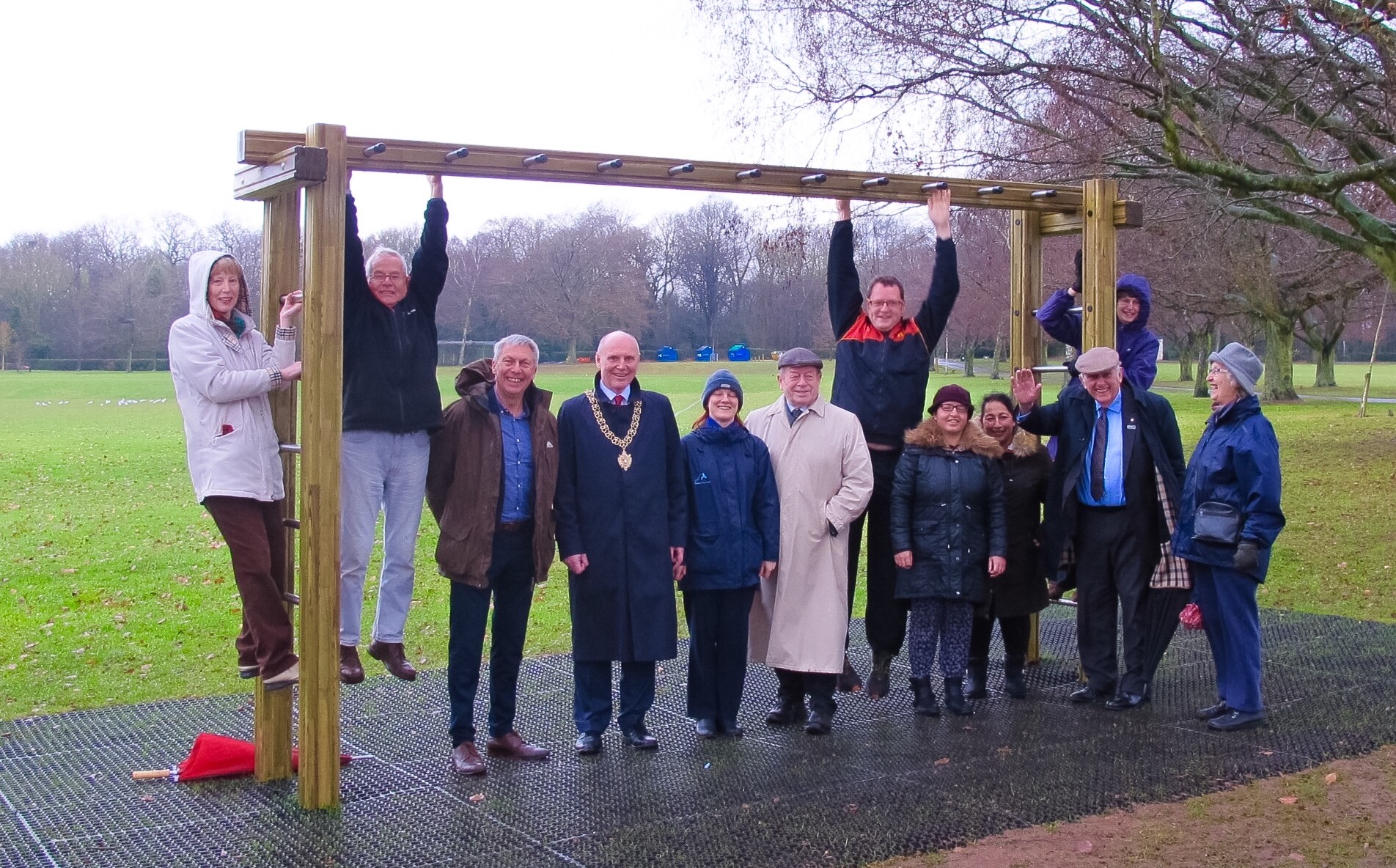 Launch of the War Memorial Park fitness trail