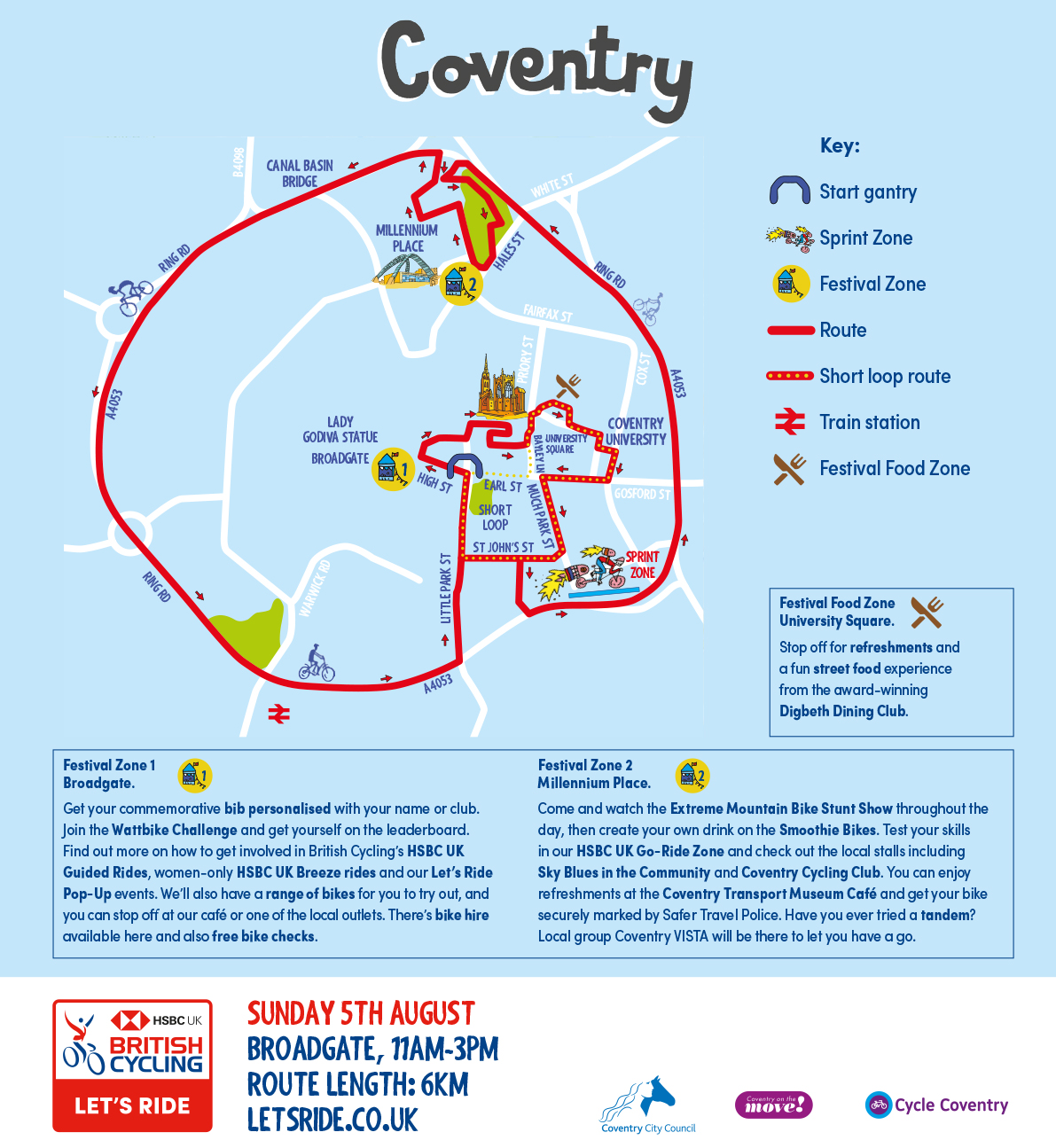 Let's Ride Coventry map