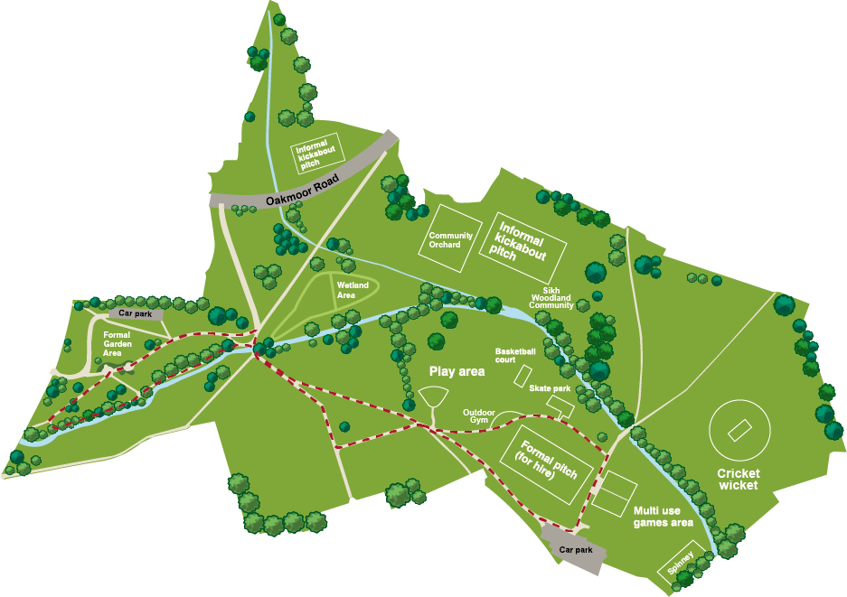 Longford park route map b