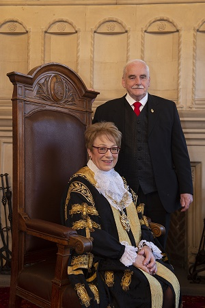 Cllr Linda Bigham as Lord Mayor