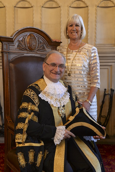 Lord mayor Blundell and lady mayoress