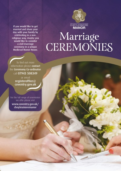 Marriage ceremony poster