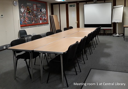 Meeting room 1 at central library