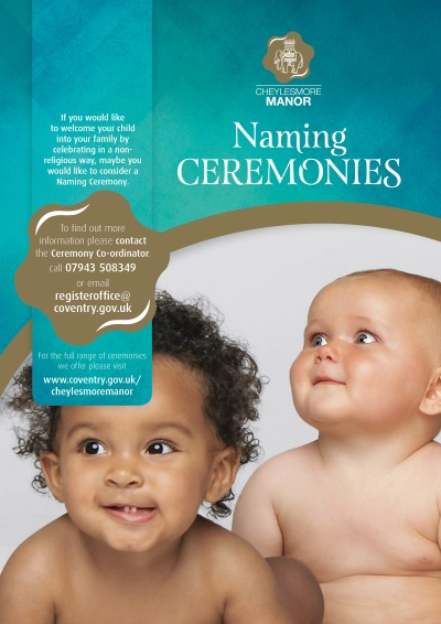 Naming ceremony poster