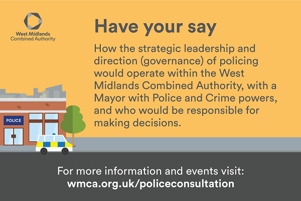 Police consultation banner