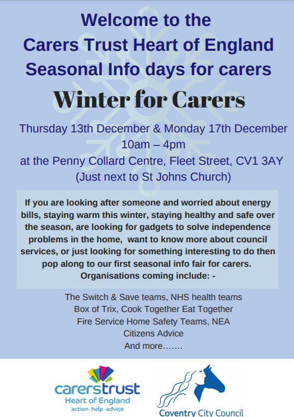 Seasonal info days for carers