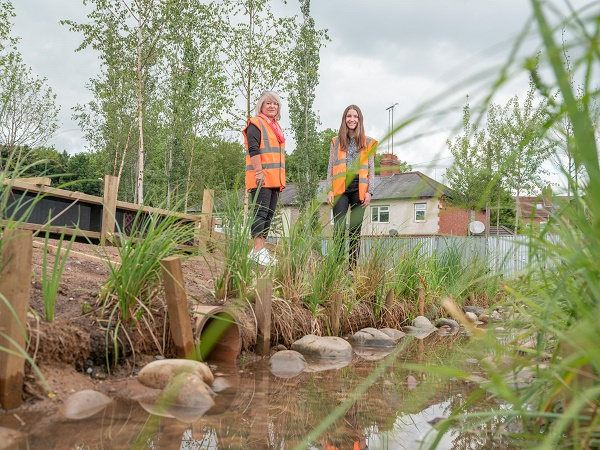 Cllr Patricia Hetherton from Coventry City Council (left) with Katie Burn from Complex Development Projects