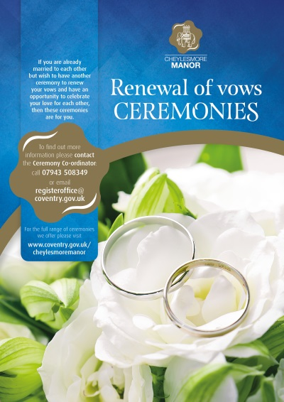 Renewal of vows ceremony poster