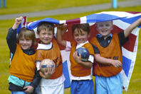 Short football Longford Park group kids