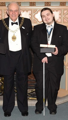 Stephen Pearce with Lord Mayor