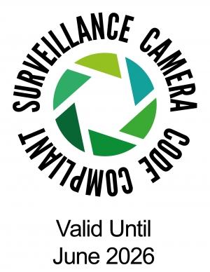 Surveillance camera code compliant - valid until June 2026