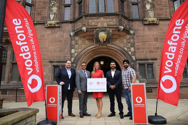 Coventry City Council is pleased to announce a new sponsorship partnership with Vodafone UK and its Gigafast Broadband service.