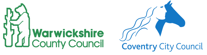 Warwickshire County Council and Coventry City Council logos