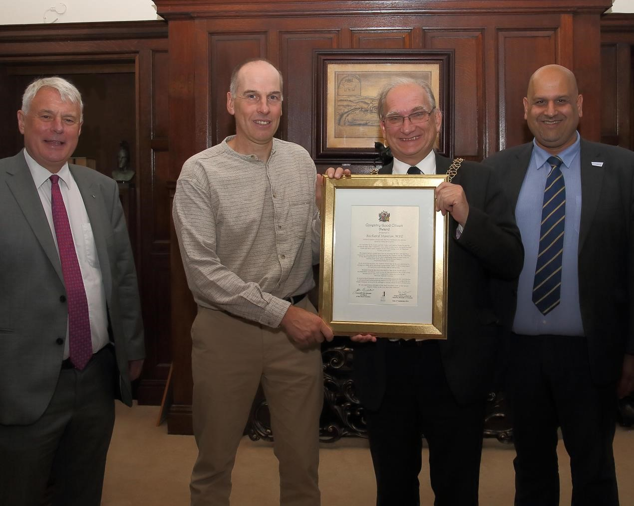Rick Stanton receives his Good Citizen Award
