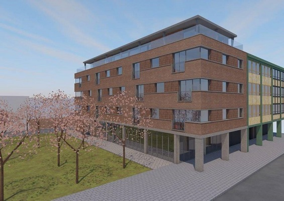 A CGI of the building