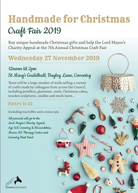 The Council's Christmas Craft Fair will be held at St Mary's Guildhall this week.