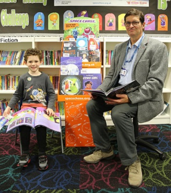 Young Reader Max and Counillor Kevin Maton