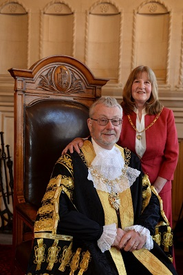 The Lord Mayor, Councillor John McNicholas with his wife Anna