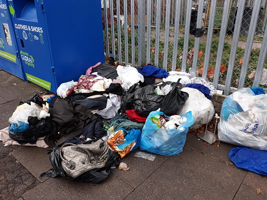 A picture of some of the flytipping