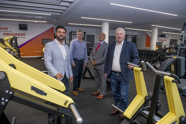 Cllr Kamran Caan, Paul Breed, Cllr Rois Ali and Cllr George Duggins in the new fitness facilities