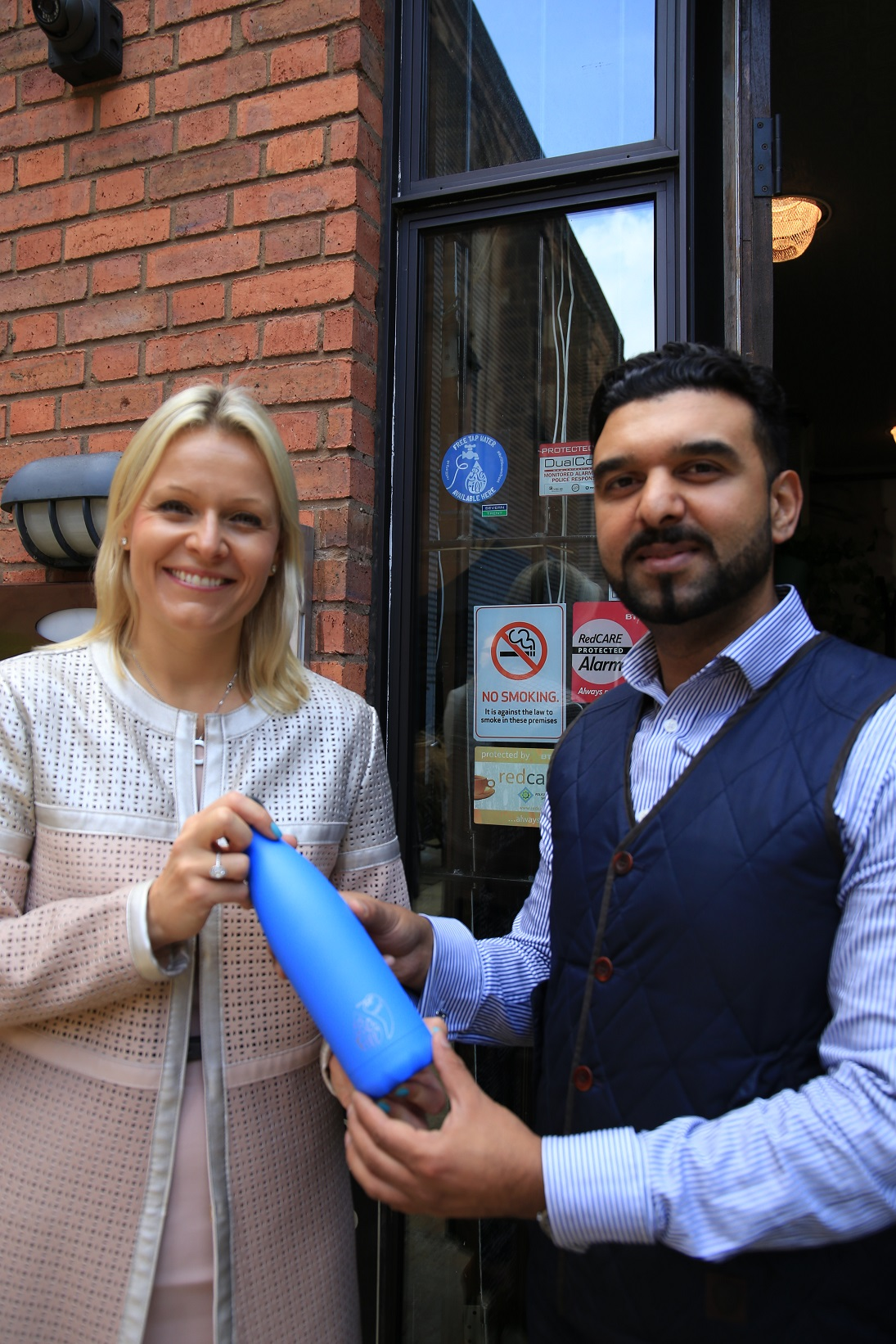 Severn Trent CEO, Liv Garfield and Cllr Kamran Caan