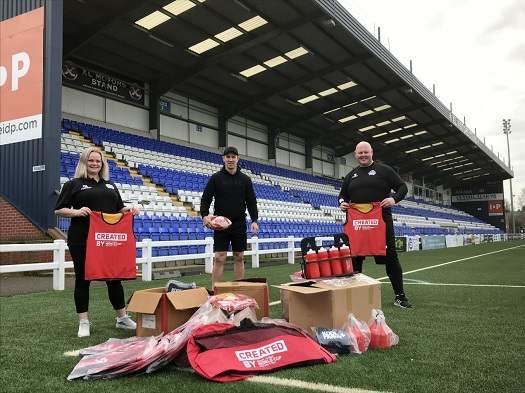 Pictured left to right: Debbie Watson, CEO Coventry Bears, Paul Sculthorpe, MBE former England Rugby League Player and Ambassador for RLWC2021 and Alan Robinson, owner and Director of Rugby Coventry Bears.