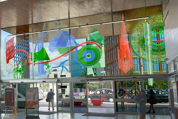 CGIs of the artwork at the station